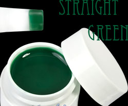gel pure color straight green